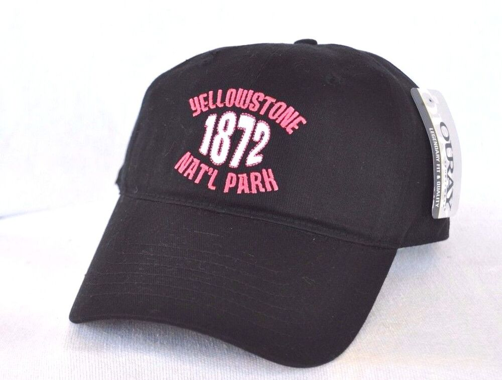 YELLOWSTONE NATIONAL PARK  Wyoming Ball cap hat OURAY embroidered  5de713952512