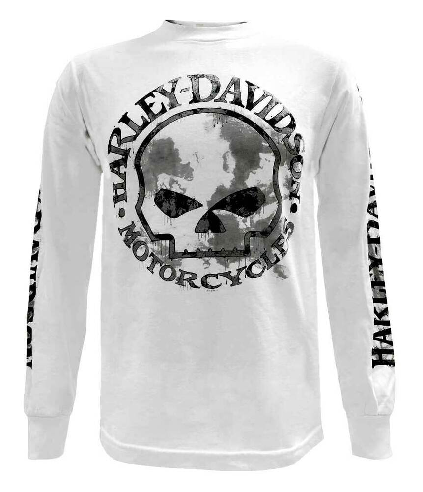 Harley Davidson Skull Long Sleeve Shirt