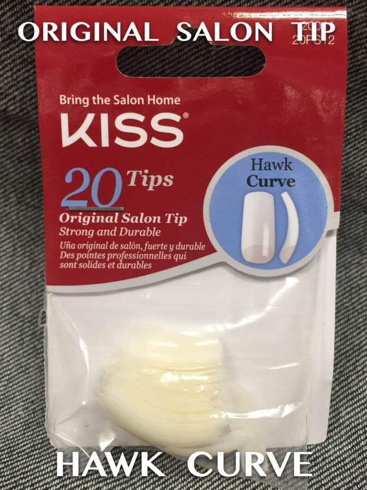 KISS HAWK CURVE 20 NAIL TIPS EXTREME CURVE WITH A SQUARE EDGE ...
