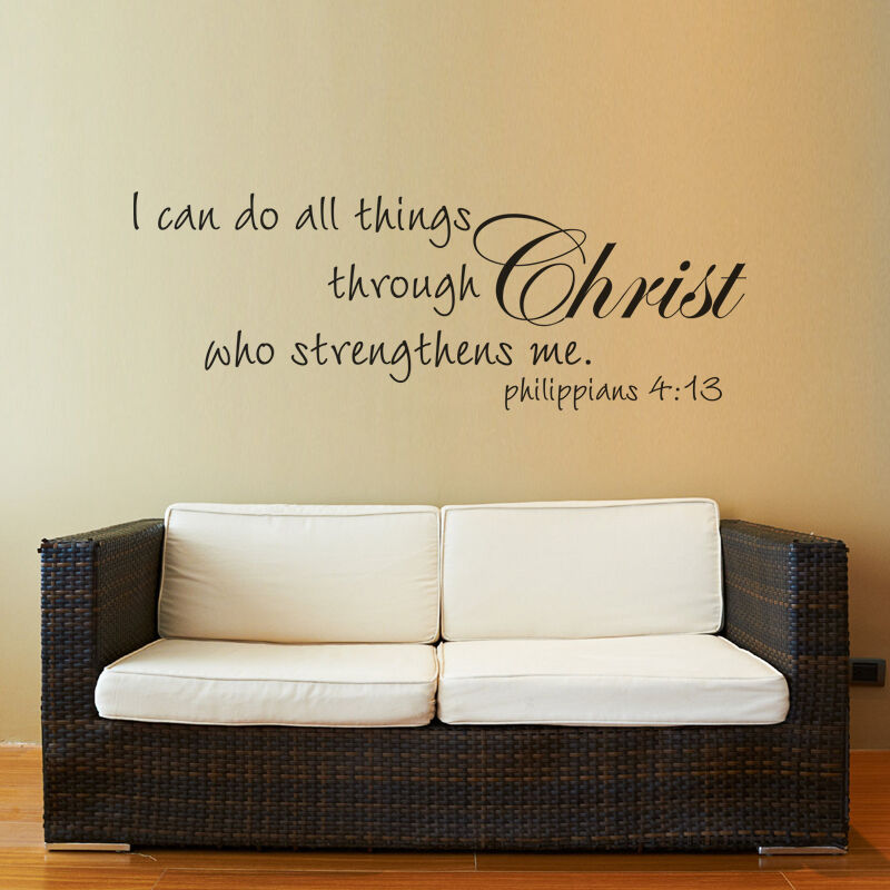 Bible Verse Decorative Wall Stickers : Christ philippians wall decal quote religious bible verse