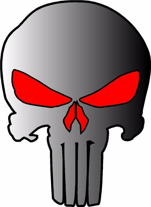 Punisher Skull Vinyl Decal Sticker Hood Vehicle Window