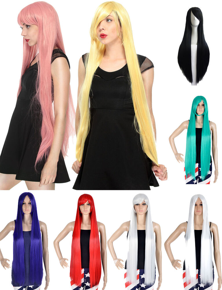 ... Fashion Long Straight Women's Cosplay Party Wig Full Hair Wigs | eBay