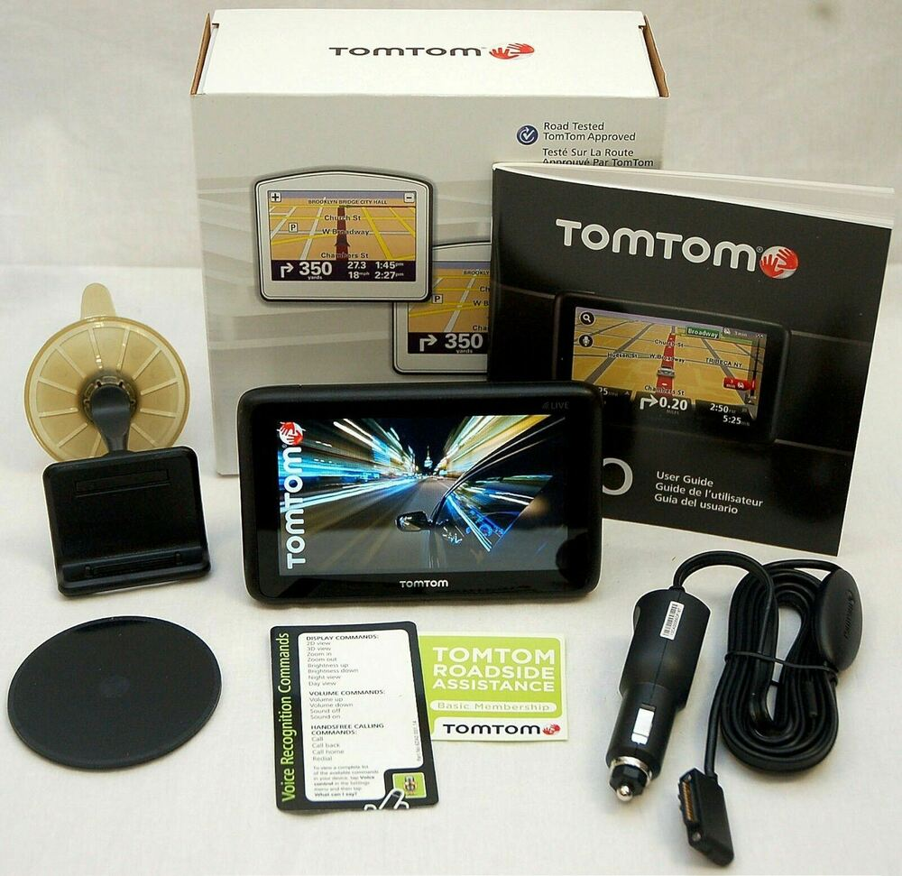 TomTom Car GPS Units With Lifetime Traffic Updates EBay - Tomtom xl usa canada map