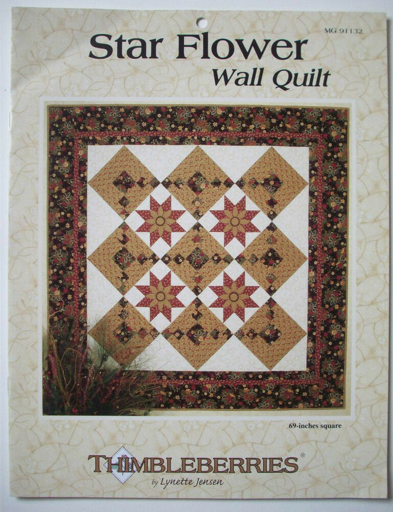 Free Star Flower Quilt Patterns : Star Flower wall quilt block pattern from Thimbleberries eBay