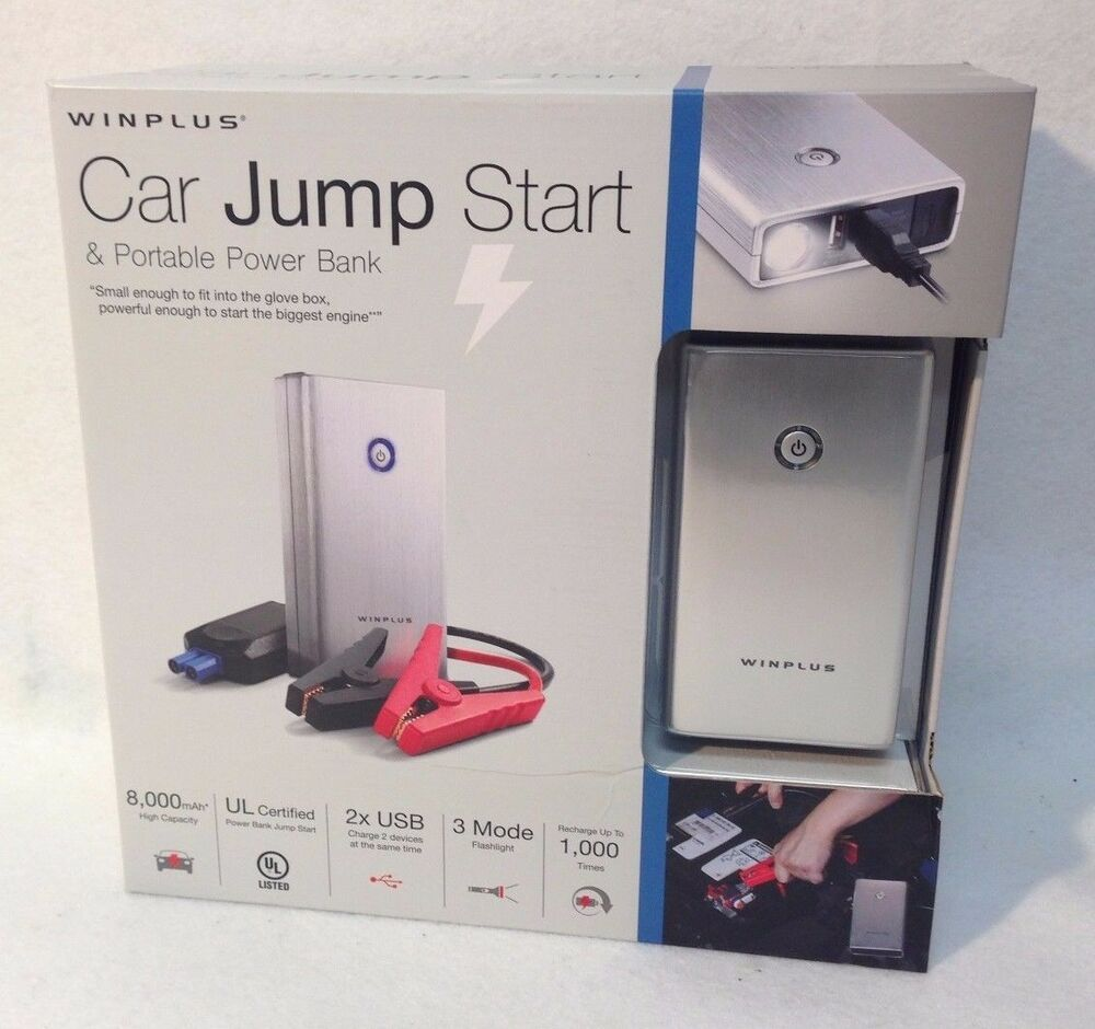 Excellent New Winplus Car Jump Start And Portable 8000mAh Power Bank