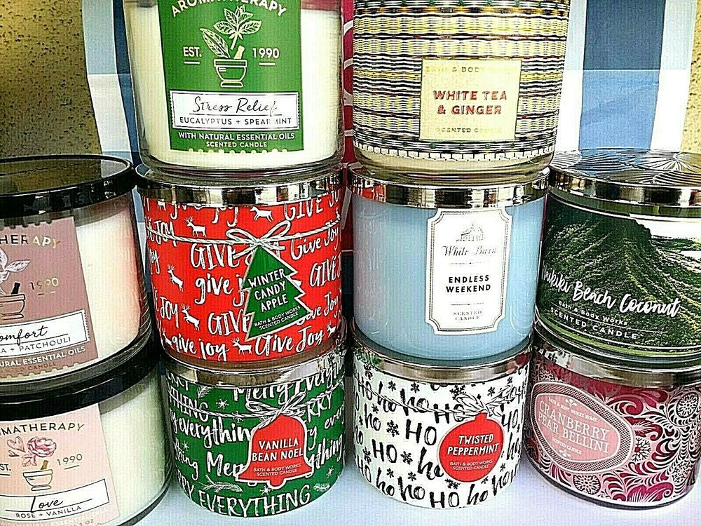 bath and body works 3 wick candle 14 5 oz 411 g u choose ebay. Black Bedroom Furniture Sets. Home Design Ideas