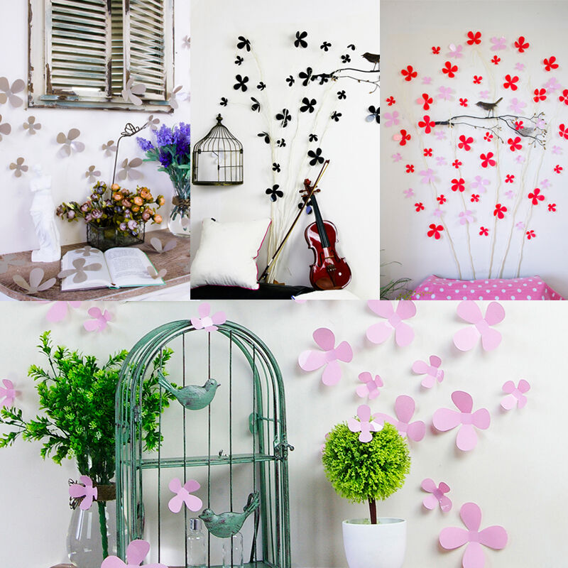 12pcs 3d Wall Sticker Stickers Flower Home Decor Diy Room Decoration Classic Ebay