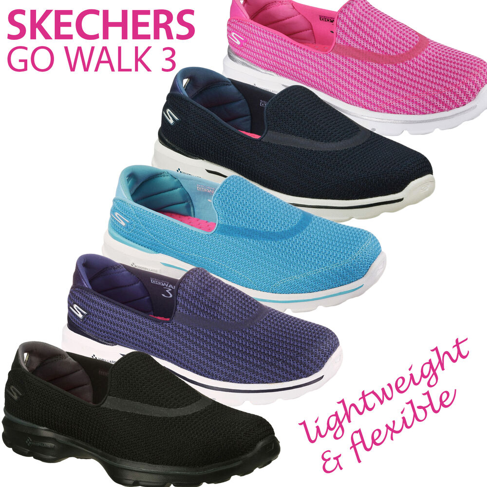 Skechers Womens Go Walk 3 Comfortable Lightweight Casual