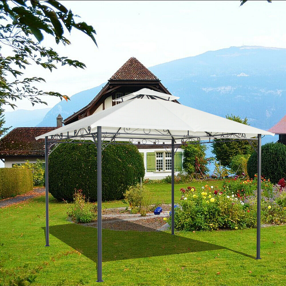 3x3m metal pavilion gazebo awning canopy sun shade shelter for Metal sun shade structures