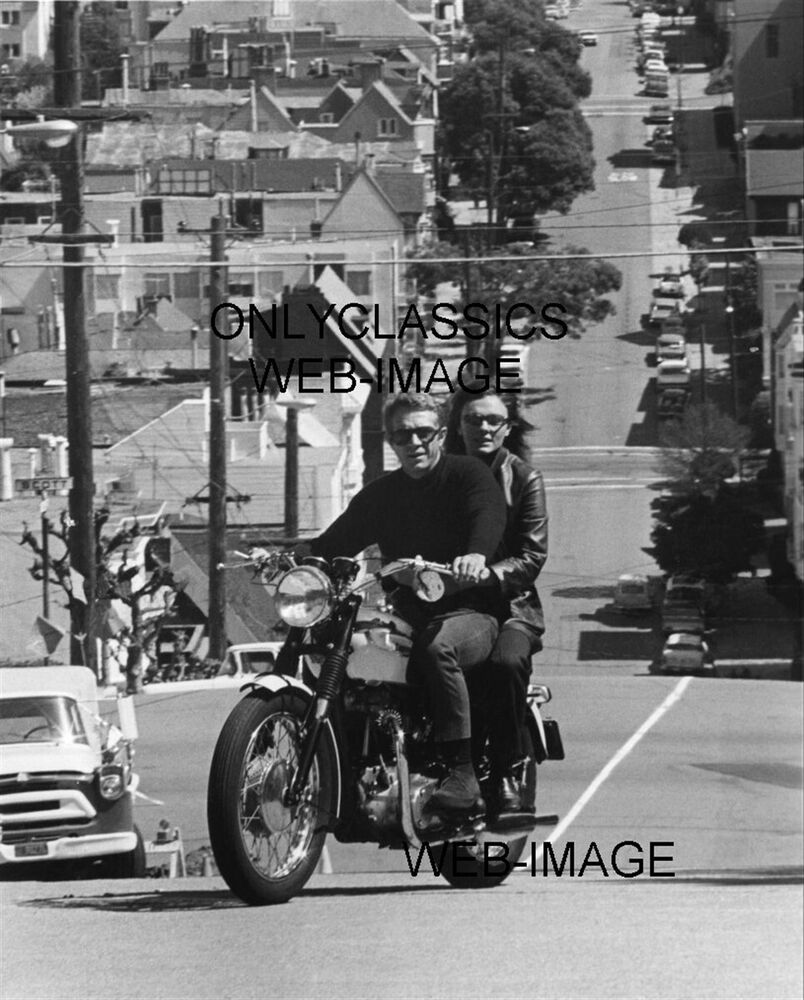 Steve Mcqueen Amp Jacqueline Bisset Ride Motorcycle Photo