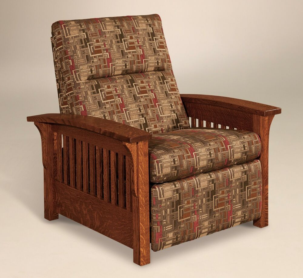 Amish Mission Arts And Crafts Recliner Chair Skyline Slat