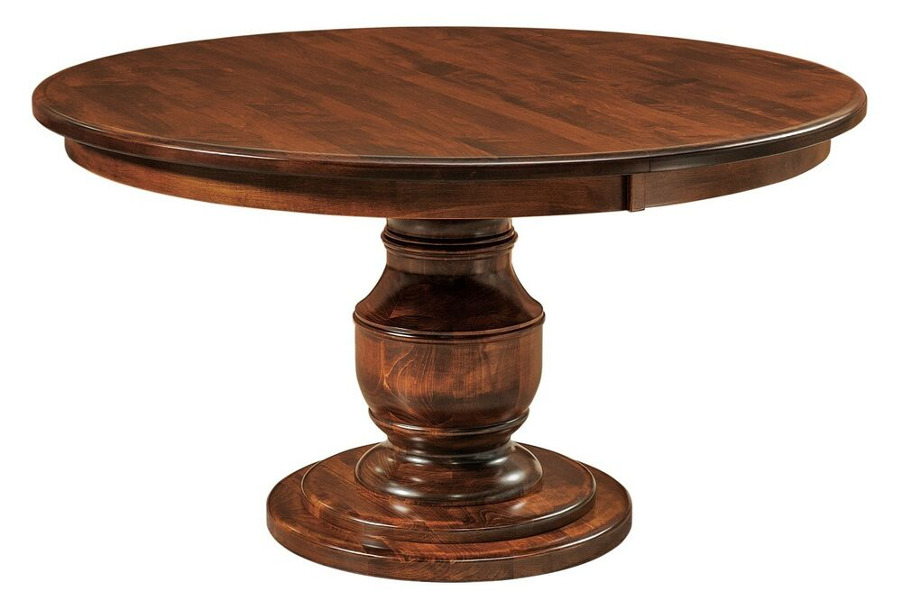 Round Pedestal Wood Dining Table