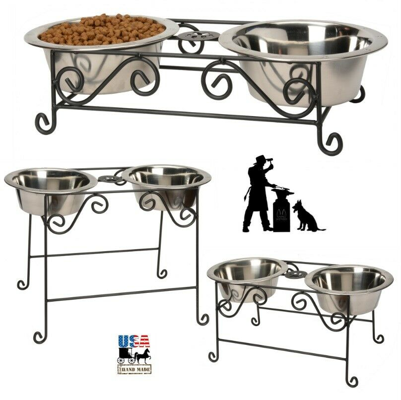 Wrought Iron Dog Food Stand