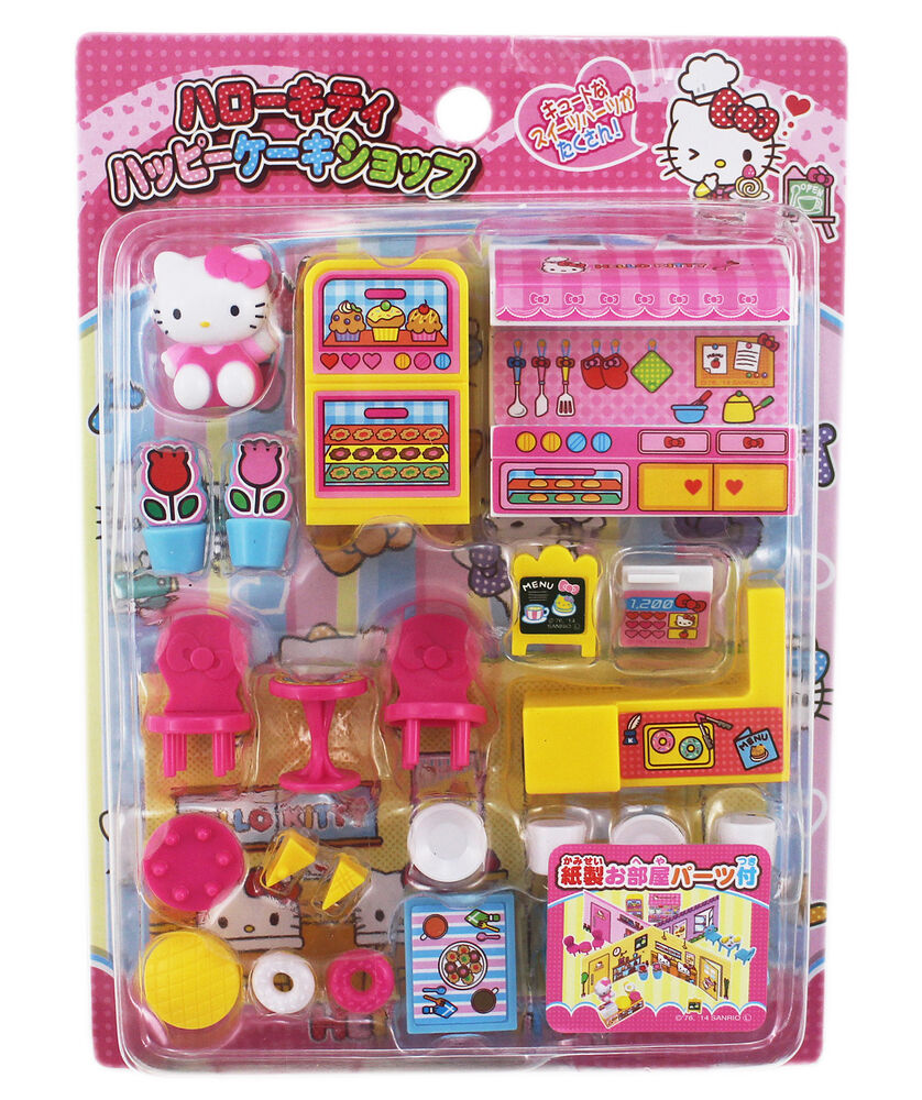 Hello Kitty Toys Set : New sanrio hello kitty mini figurine playset kid s