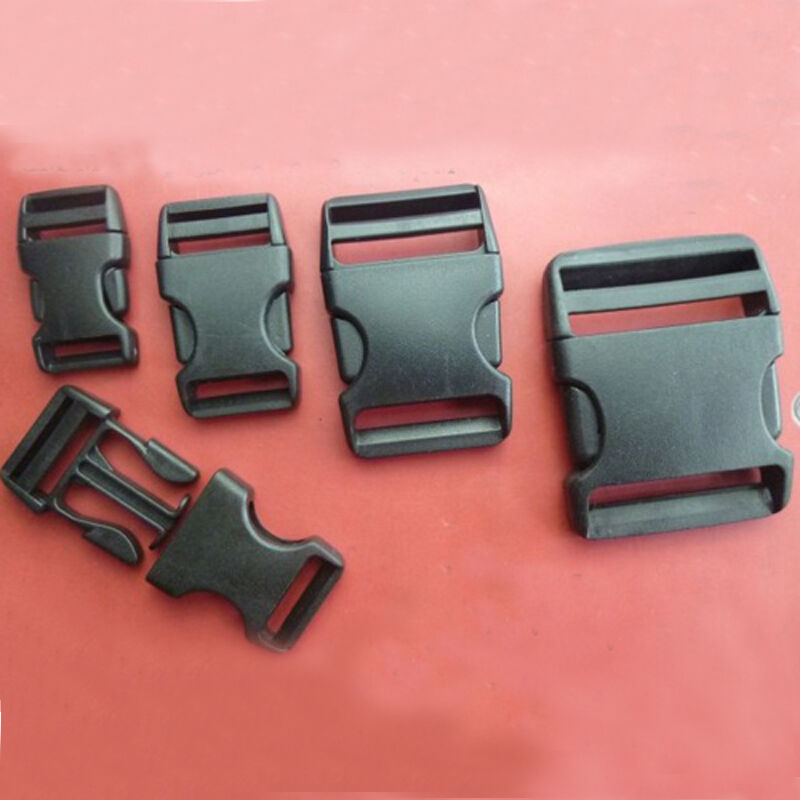 New 2cm 5 Cm Side Release Buckles Clips For Webbing Black