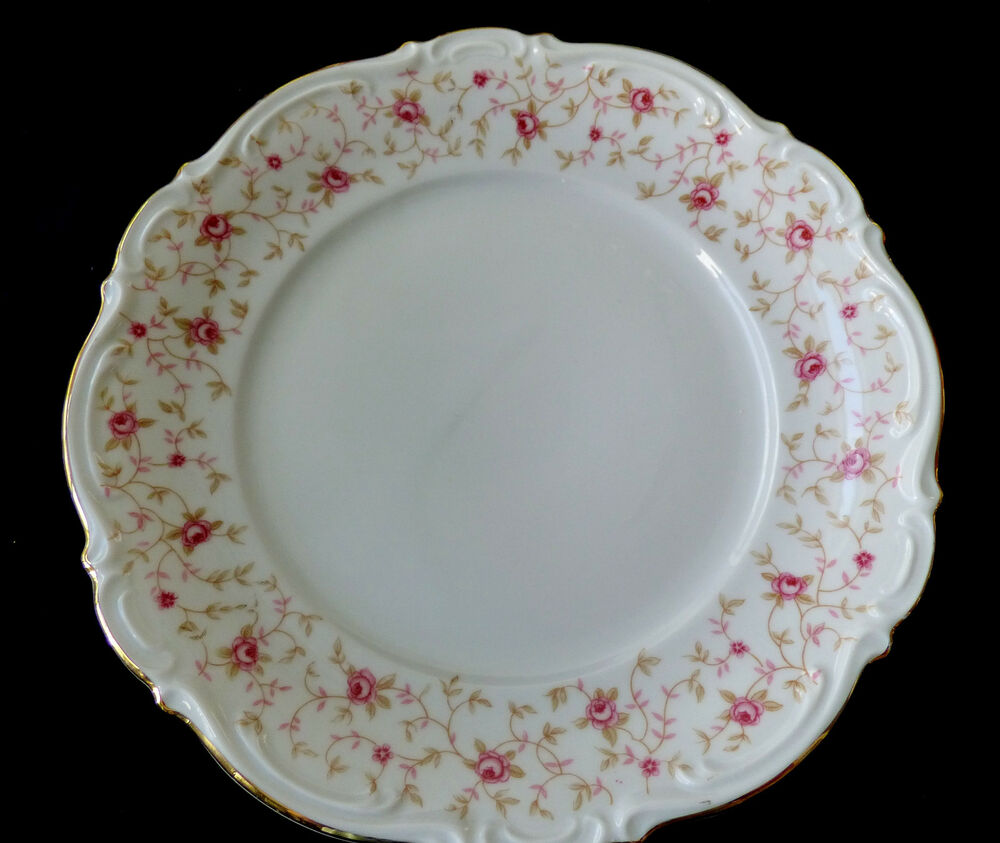MITTERTEICH CHINA Bavaria Lady Claire Bread Plate Pink