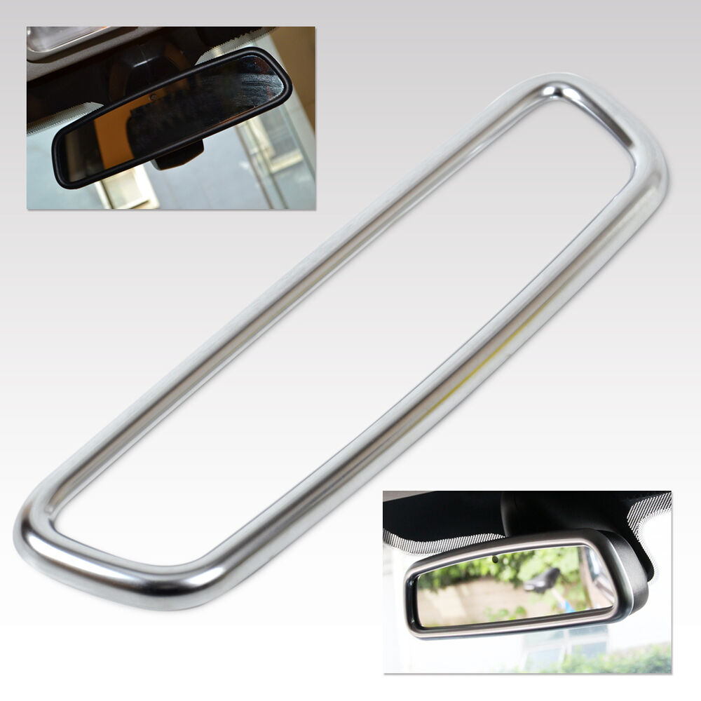 car chrome interior rear view mirror cover for land range rover sport evoque ebay. Black Bedroom Furniture Sets. Home Design Ideas
