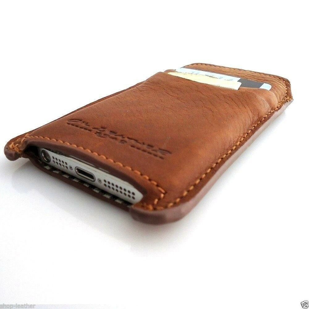 Genuine vintage leather case for iphone 5s 5c cover book wallet handmade slim ebay - Iphone 5s leather case ...