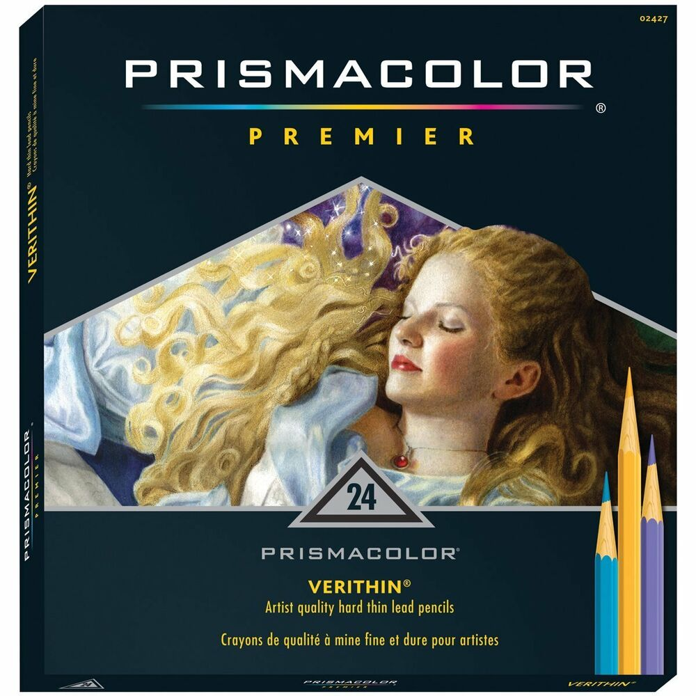 prismacolor verithin colored pencils set of 24 assorted