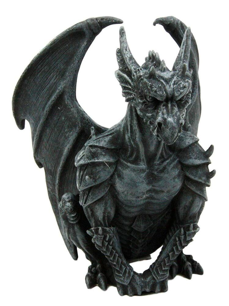 Gargoyle Guardian Winged Statue Figurine. Gothic ...