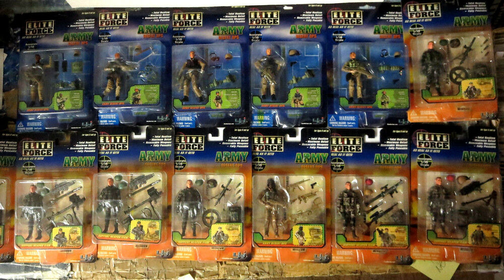 Military Toys Elite Force 1 18 : Bbi elite force scale army desert ops lot of