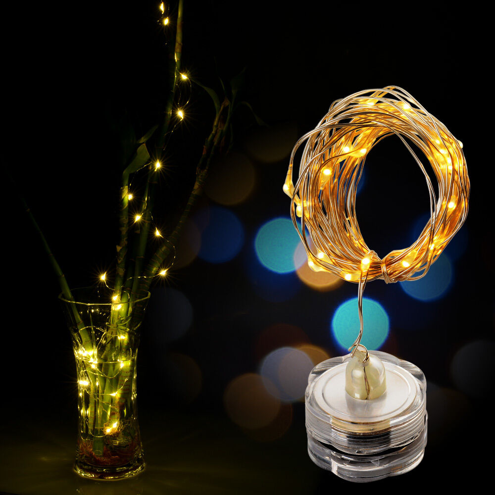 String Lights Vase : 3/15pcs 9.8ft LED copper wire Starry string Lights Floral Tea Vase Decoration eBay