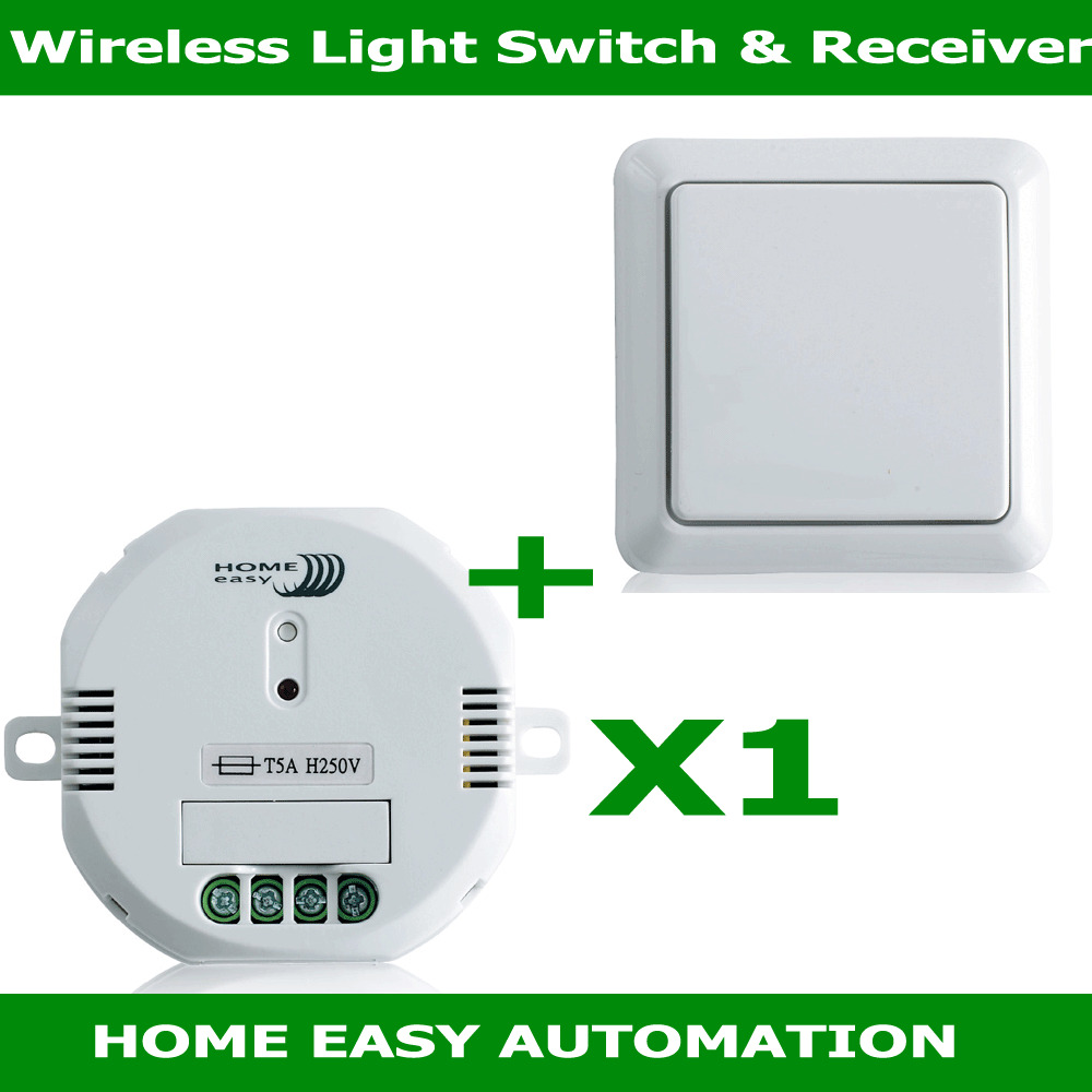 Wireless Home Lighting: Home Wizard Remote Control White Wireless 1 Gang Wall
