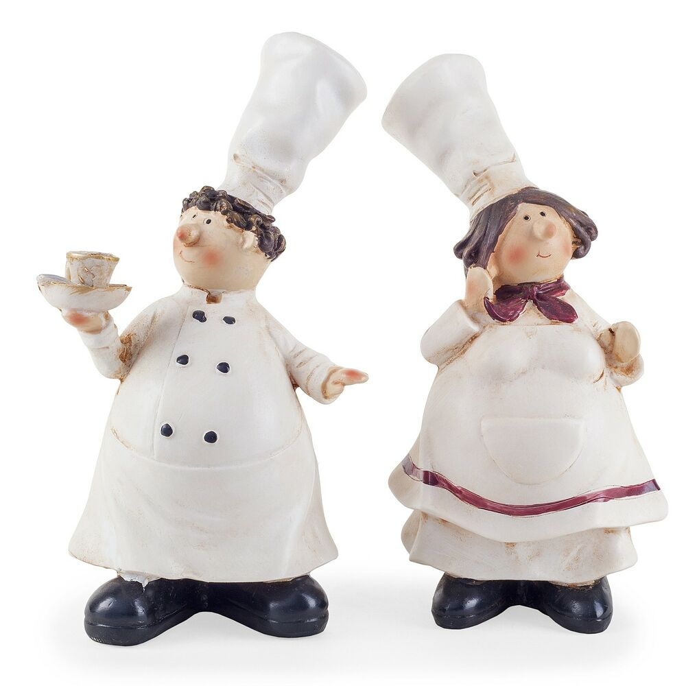 lucy leonard the fat chef statue figurine home decor