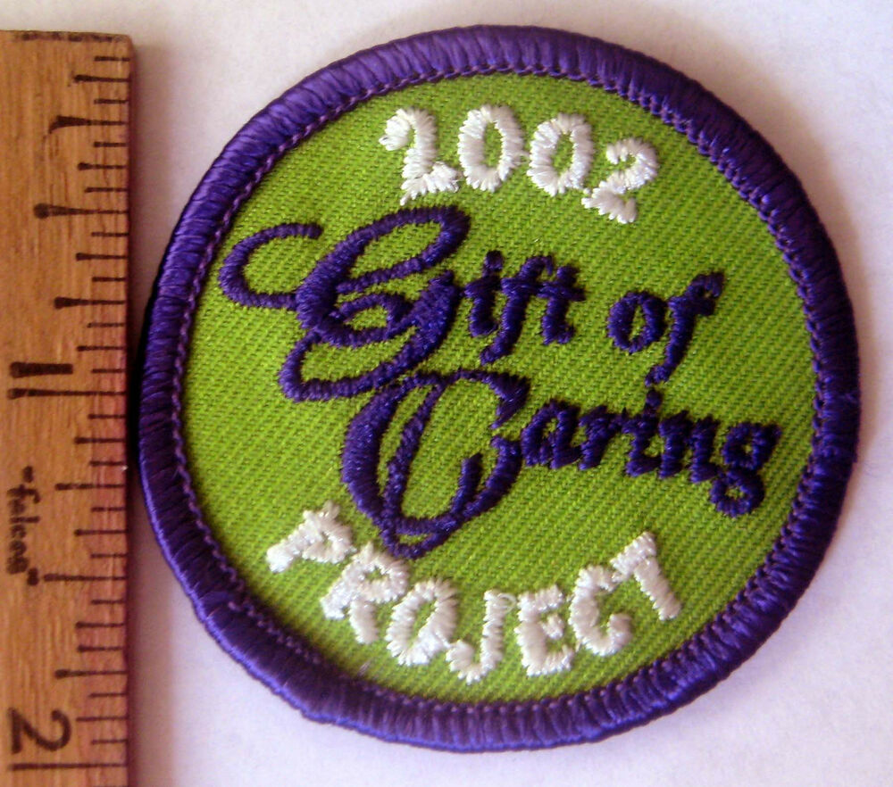 girl scout 2002 cookie sale gift of caring patch united