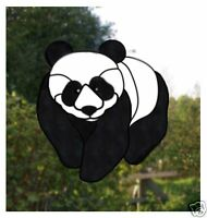 Panda Stained glass effect window cling