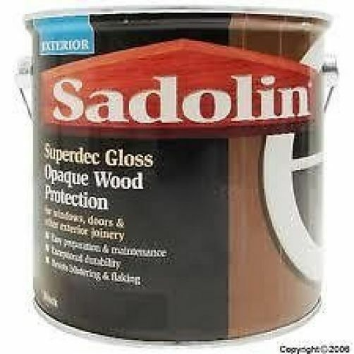Sadolin superdec gloss black exterior quick drying paint 5lt 1lt ebay - Sadolin exterior wood paint image ...