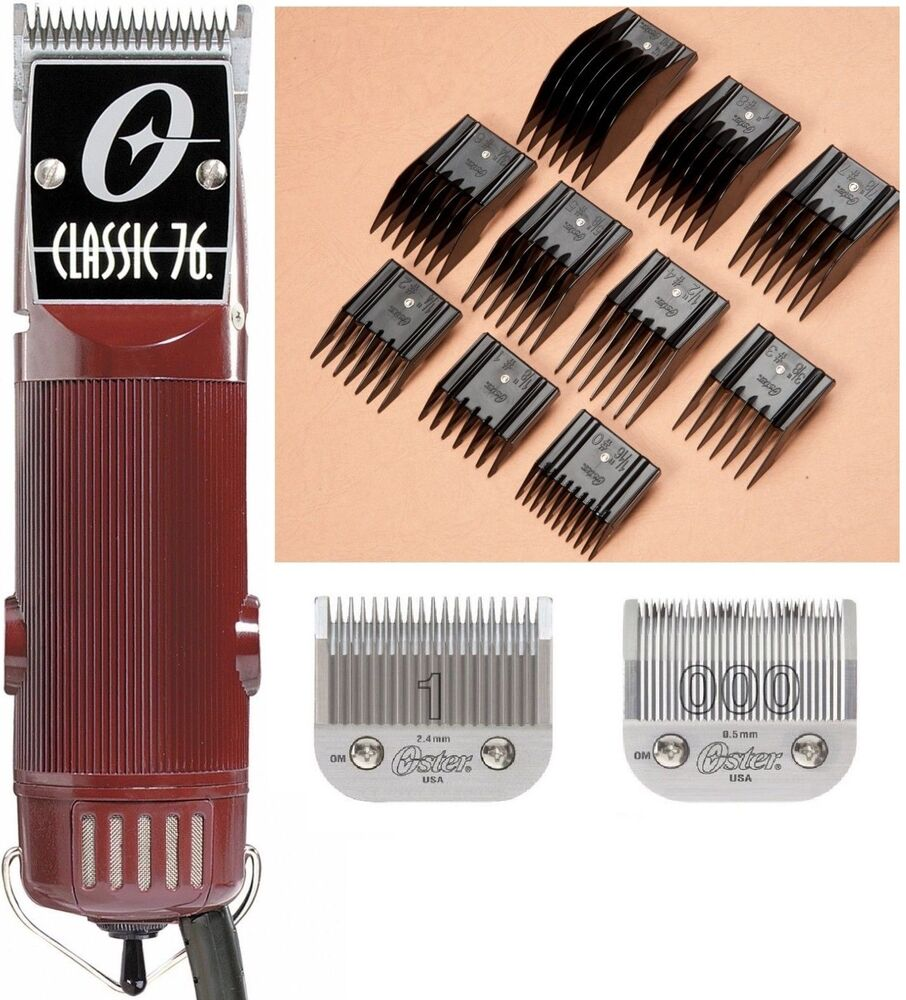 refurbished oster classic 76 free universal 10 pc combs set bonus size 1 blade ebay. Black Bedroom Furniture Sets. Home Design Ideas
