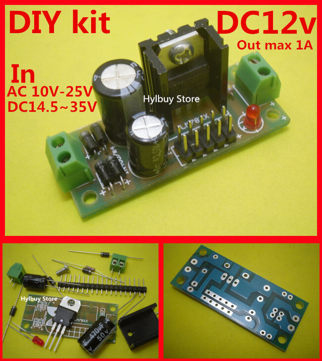 Diy Kit Dc Ac 15v 24v To 12v Dc L7812 Lm7812 Voltage