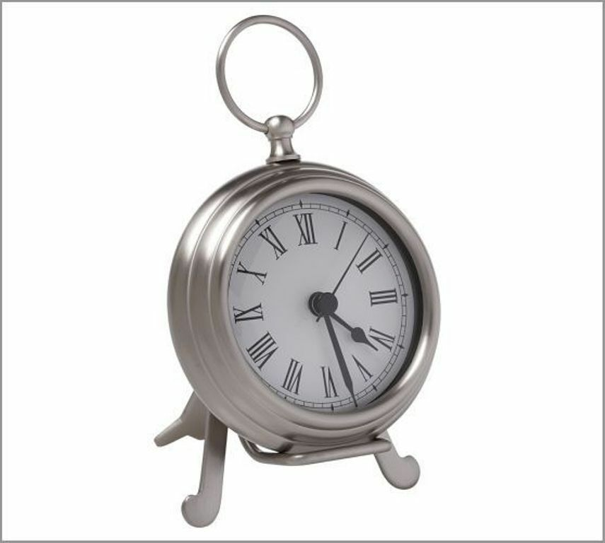 Pottery Barn Small Battery Operated Pewter Tone Pocket ...