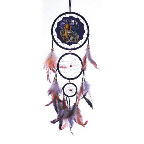 dreamcatcher wolves feathers white - photo #15