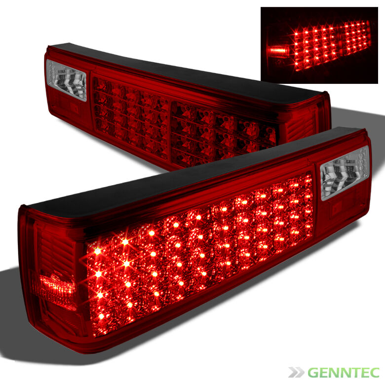 for 87 93 ford mustang led red smoked tail lights lamp. Black Bedroom Furniture Sets. Home Design Ideas