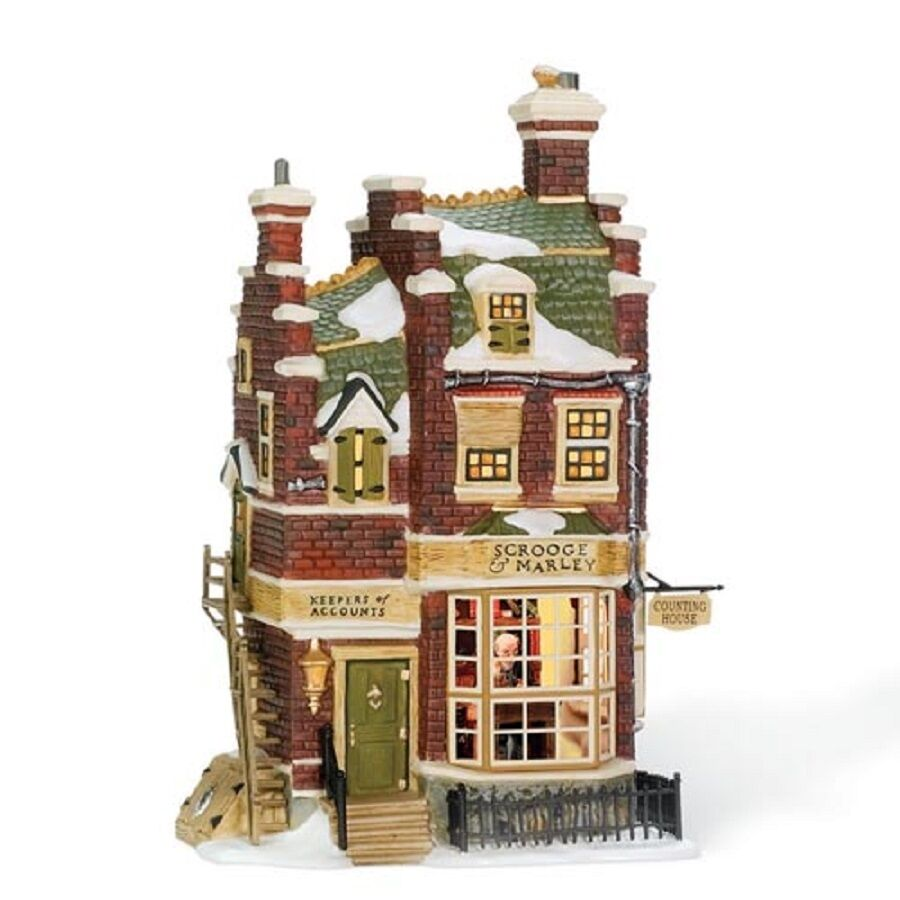 "Items Similar To Vintage Santa S Workbench Dickens Choir: Dept. 56 Dickens' Village ""SCROOGE & MARLEY COUNTING HOUSE"