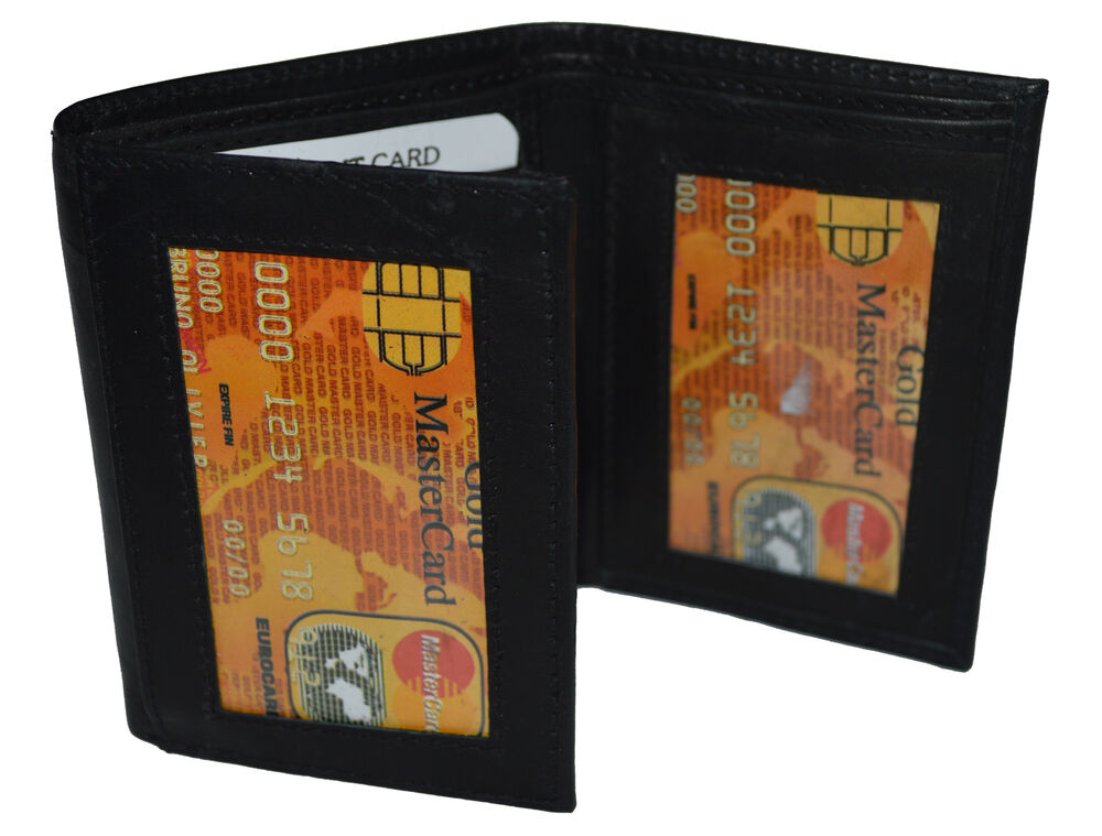 Trifold double bill 6 credit card 2 id window men 39 s wallet for 2 id window wallet