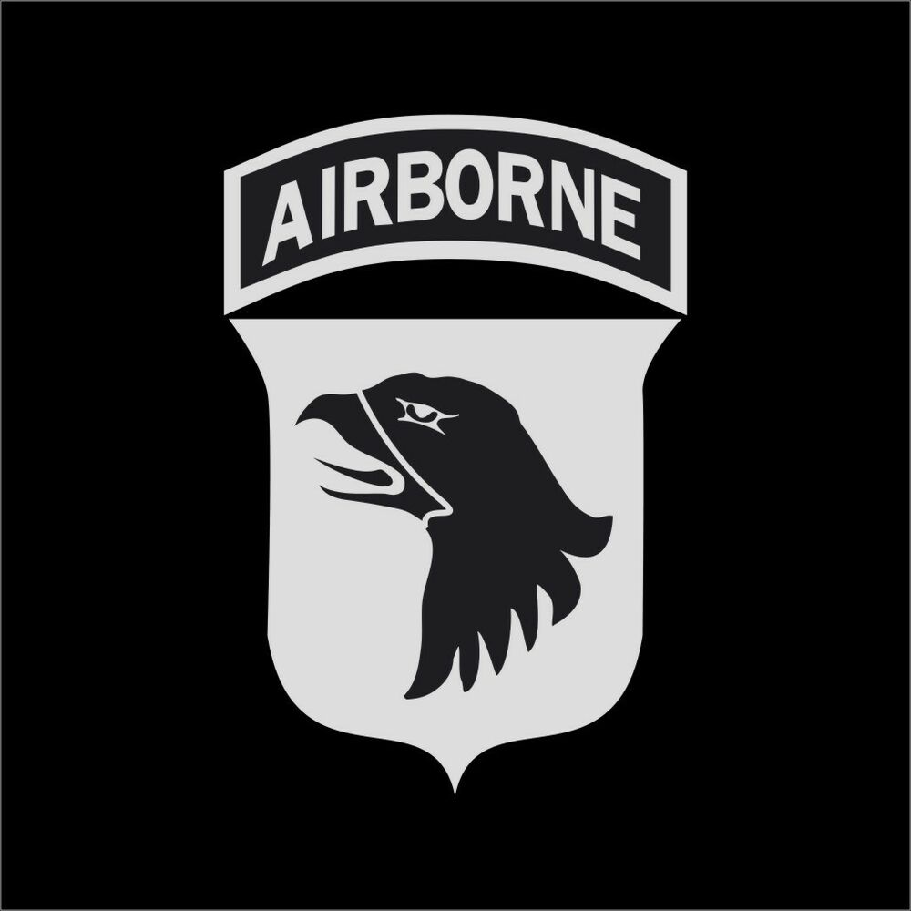 us army 101st airborne logo military vinyl decal sticker
