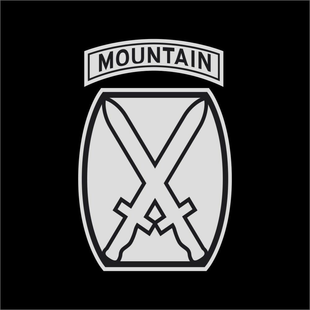 US Army 10th Mountain Division #2 Military Vinyl Decal ...