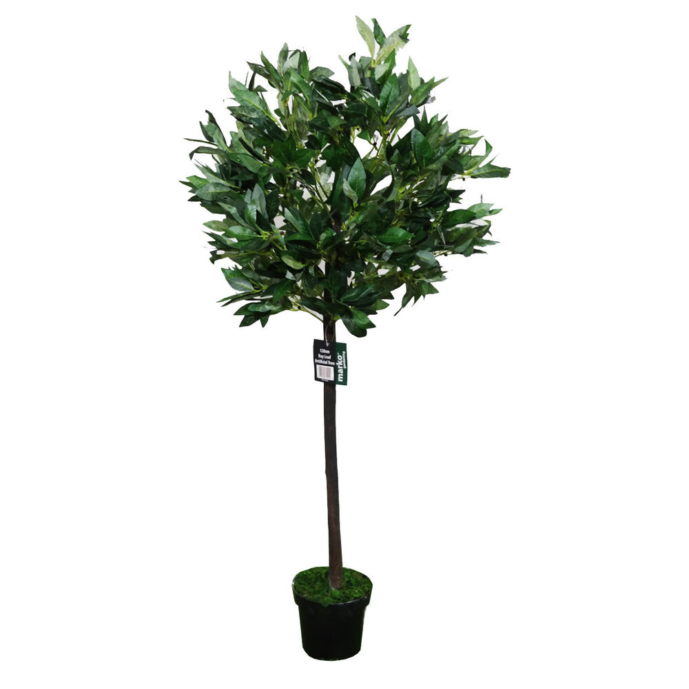 4ft artificial bay leaf tree indoor or outdoor decorative for Outdoor decorative plants