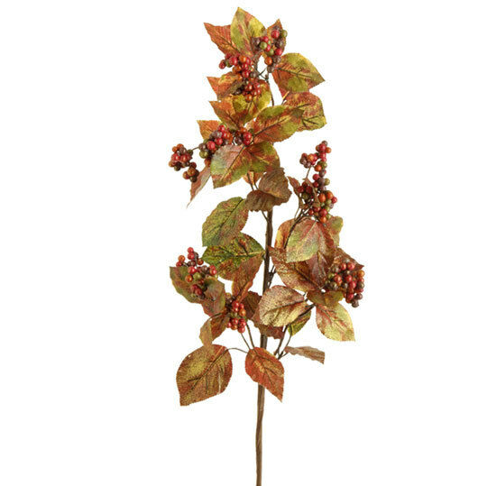 "Christmas Berry Tree Hawaii: Raz Import~32"" Autumn/Fall Berry Spray~Floral Pick/Branch"