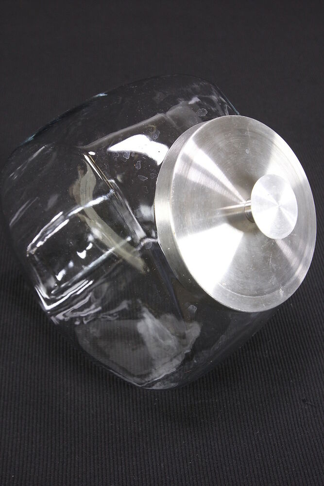 Country Store Style Cookie Or Candy Jar Clear Glass