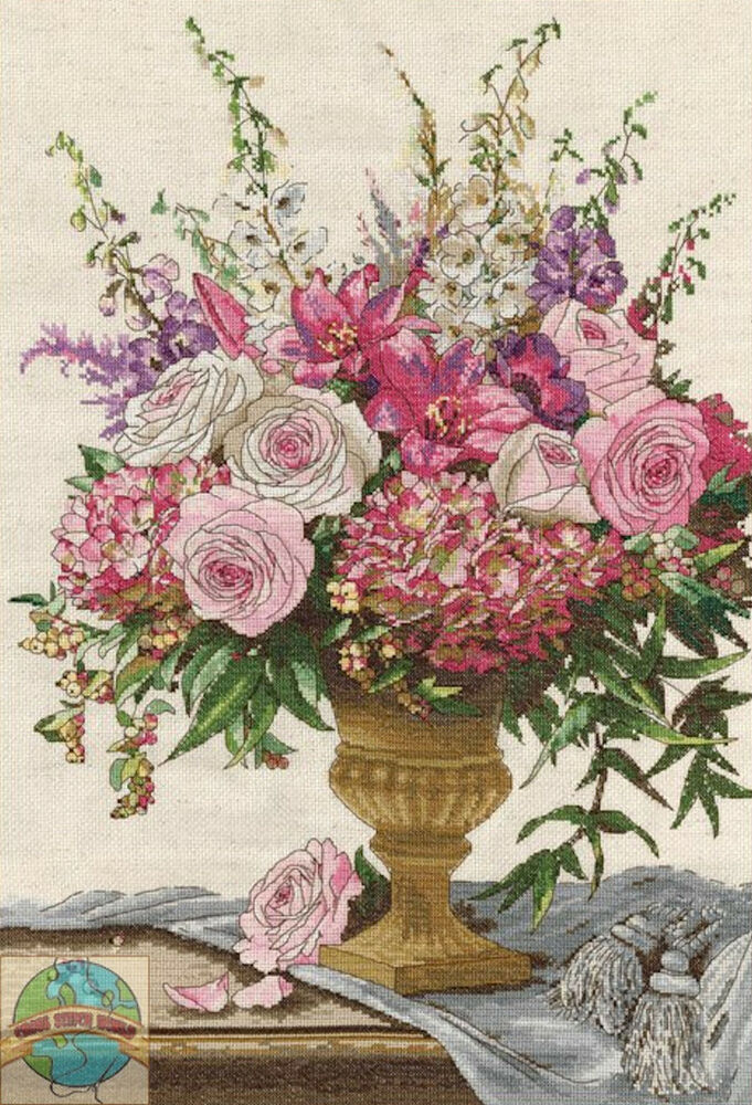Cross Stitch Kit Design Works Symphony Bouquet Pink