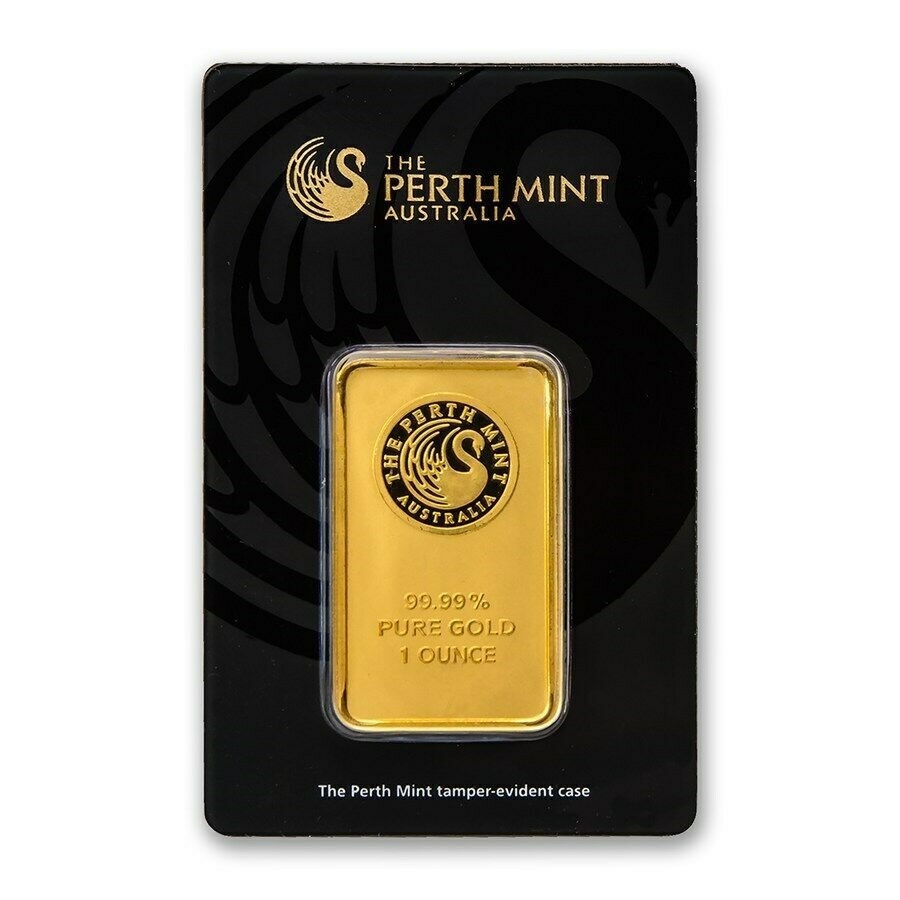 1oz Perth Mint Gold Minted Bar - jaggards.com.au