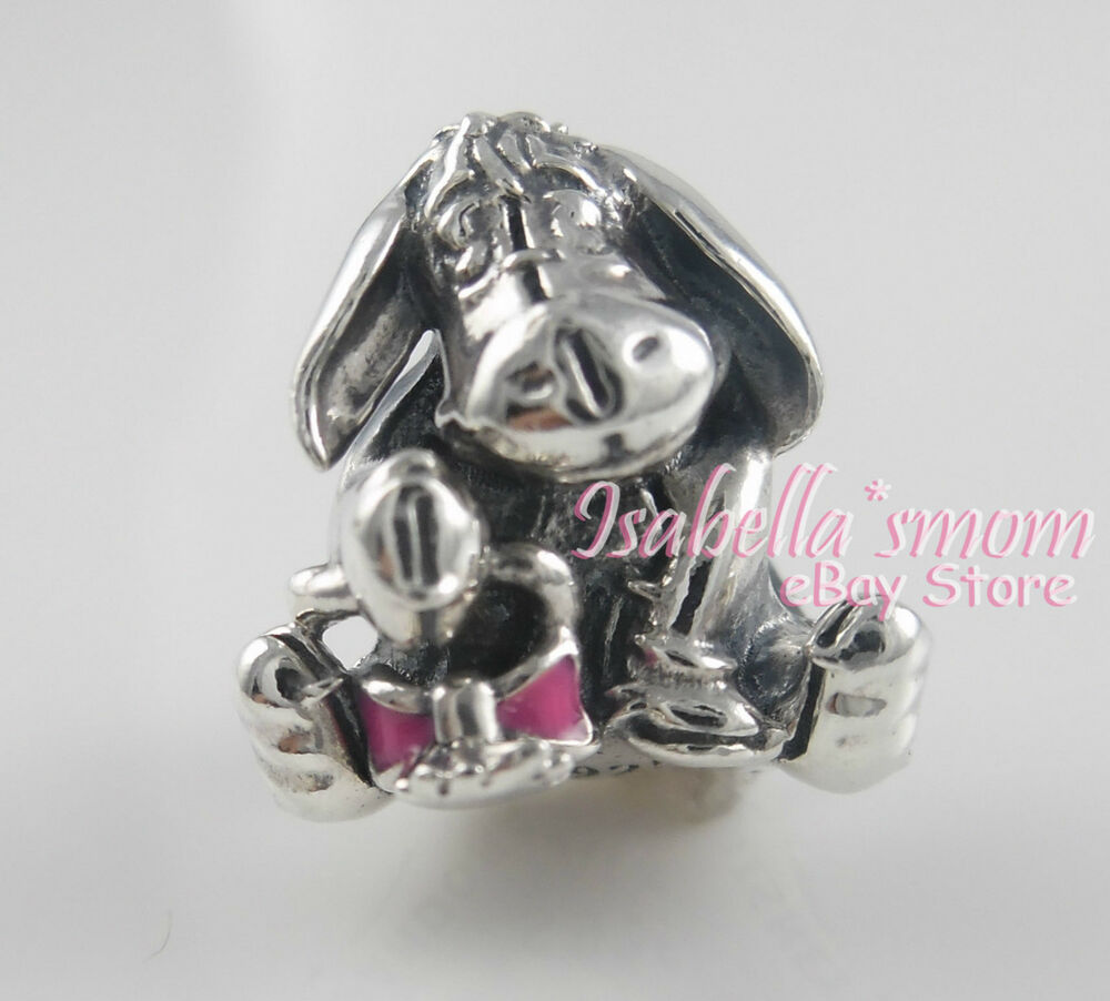 disney eeyore 100 authentic pandora silver pink enamel