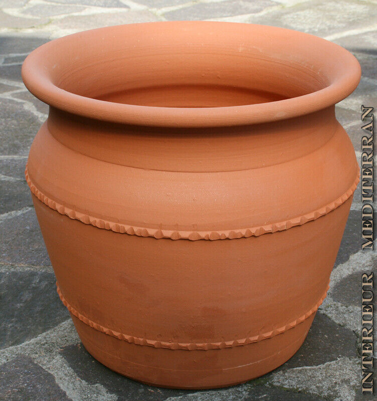 bertopf blumentopf 30cm 40 cm pflanztopf massives terracotta terrakotta robust ebay. Black Bedroom Furniture Sets. Home Design Ideas