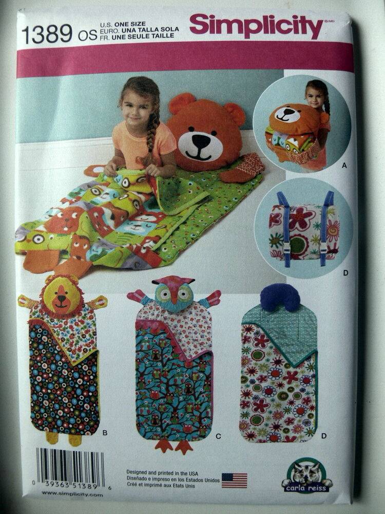 Simplicity Pattern 1389 CHILD'S NAP PACK day care nap pad ...