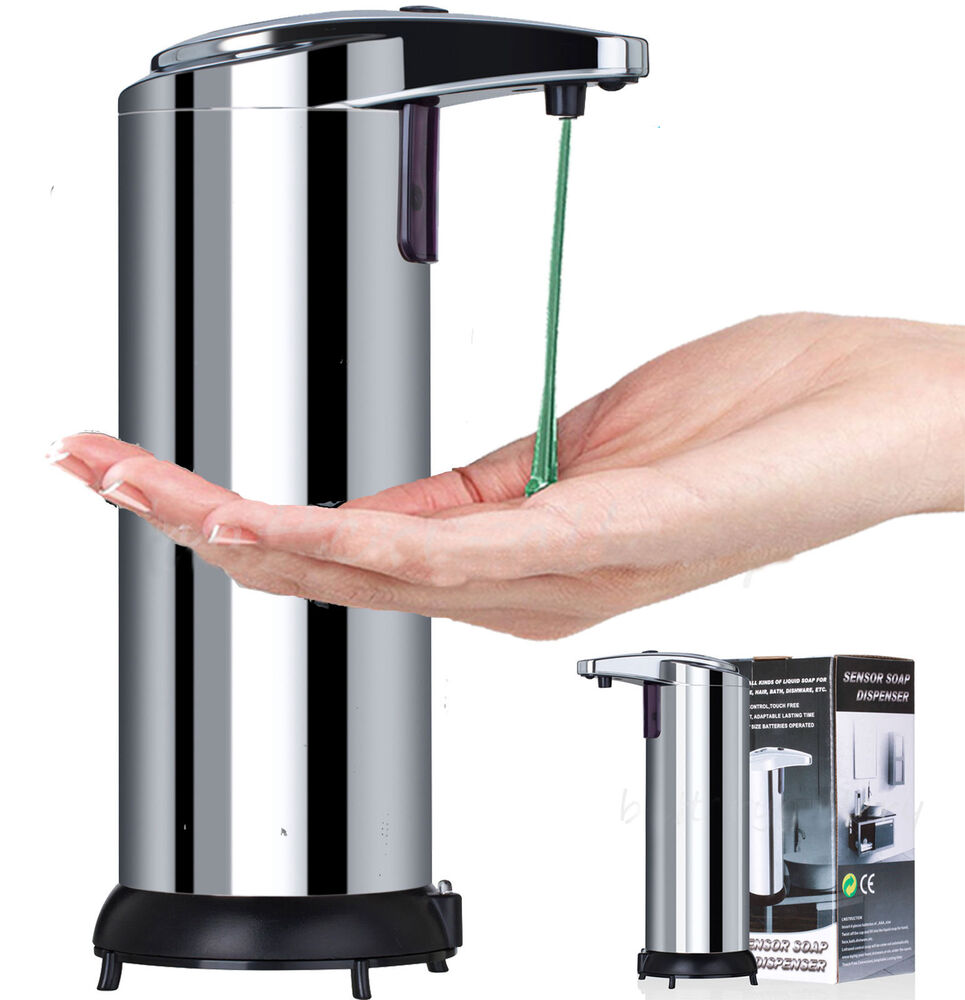 Touchless Hand Soap Dispenser ~ Stainless steel hands free automatic ir sensor touchless