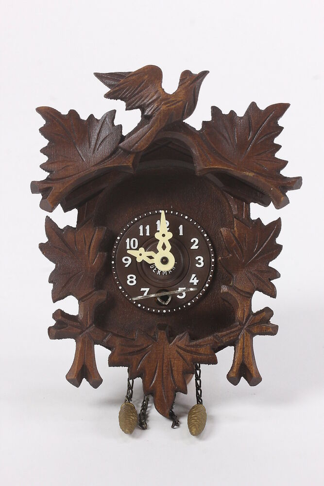 Small Made in Germany Engstler Wooden Cuckoo Clock Birds ...